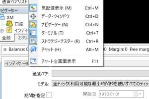 バイナリーオプションMT4でのストラテジーテスター表示方法