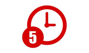 ターボ取引でおすすめの取引時間③5分取引の特徴